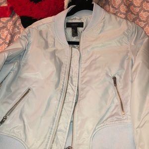 Pastel blue bomber jacket